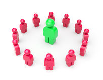 Leader. Business metaphor. Leader and followers. Business  3d illustration Stock Image