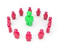 Leader. Business metaphor Stock Image