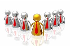 Leader and business team Royalty Free Stock Images