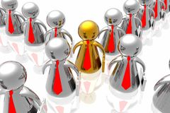 Leader and business team Royalty Free Stock Image