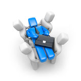 Leader carry on hands. Business success Royalty Free Stock Image