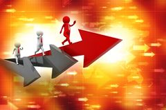 Leader of competition. Concept. 3d illustration. Leader of competition. Concept, Business Competition Concept. 3d illustration Stock Images