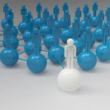 Leader of competition. Concept. 3d illustration Stock Photography