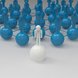 Leader of competition. Concept. 3d illustration Stock Image