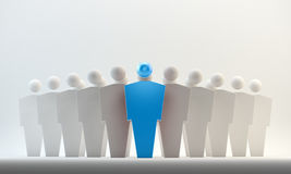 Leader concept. 3D conceptual figures - leaders concept Royalty Free Stock Photos
