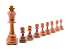Leader concept. Chess figures studio isolated Stock Photo