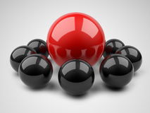 Leader concept. 3d illustration. Leader concept. Spheres on a white background. 3d illustration Stock Photography