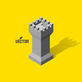 Leader concept. Tower. 3d vector illustration. Can be used for design Stock Images