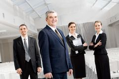 Leader of corporation Royalty Free Stock Photo