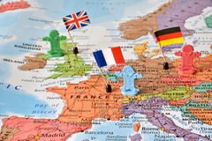 Leader countries Germany, France, UK, concept image royalty free stock photos