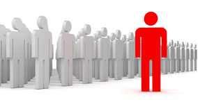 Leader and a crowd Stock Image