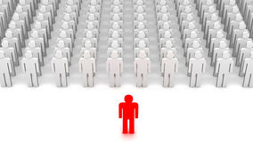 Leader and a crowd Stock Images
