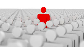 Leader and the crowd. Standing out from the crowd royalty free illustration
