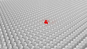 Leader and the crowd Royalty Free Stock Photo