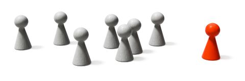A leader and the crowd. 3d illustration of a leader and the crowd Royalty Free Stock Image