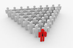 Leader and crowd in triangle form Royalty Free Stock Photos
