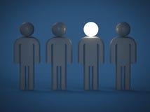 Leader. 3D render image representing leadership concept Stock Photo