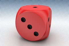 Leader Dice In Halftone Background Royalty Free Stock Photo