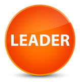 Leader elegant orange round button Royalty Free Stock Photos