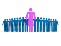 Leader female Royalty Free Stock Photo
