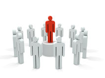 Leader figure. Abstract crowd leading figure. rendered over white background Royalty Free Stock Photography