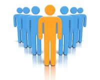 Leader in front of a group people. Stock Images