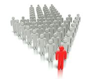 Leader in front of a group people. Stock Photos