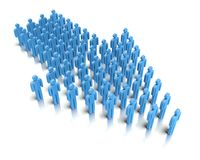 Leader in front of a group people. Royalty Free Stock Photos
