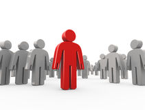 Leader and group Royalty Free Stock Image