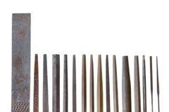 Leader group of vintage keysmith metal files Stock Image