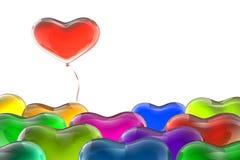 Leader heart balloon Royalty Free Stock Photo