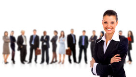 Leader and her team Royalty Free Stock Photos