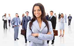 Leader and her team, Stock Images