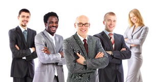 Leader and his business team Stock Photography