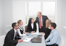 Leader and his team Stock Photography