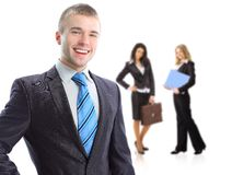 Leader and his team Royalty Free Stock Images