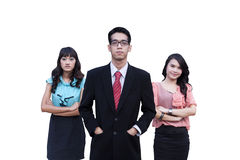 Leader and his team Stock Images