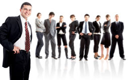 Leader and his team Royalty Free Stock Photo