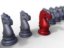 Leader initiative chess concept Stock Image