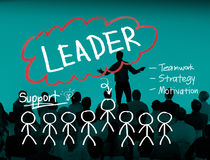 Leader Leadership Management Responsibility Vision Concept.  Stock Photography