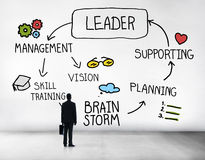 Leader Leadership supporting Management Vision Concept royalty free stock images