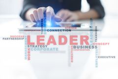 Leader. Leadership. Teambuilding. Business concept. Words cloud. Stock Photography
