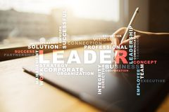 Leader. Leadership. Teambuilding. Business concept. Words cloud. Leader Leadership Teambuilding. Business concept. Words cloud royalty free stock image