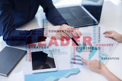 Leader. Leadership. Teambuilding. Business concept. Words cloud. Leader Leadership Teambuilding. Business concept. Words cloud royalty free stock images