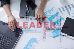 Leader. Leadership. Teambuilding. Business concept. Words cloud. Leader Leadership Teambuilding. Business concept. Words cloud royalty free stock photo