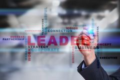 Leader. Leadership. Teambuilding. Business concept. Words cloud. Royalty Free Stock Photos