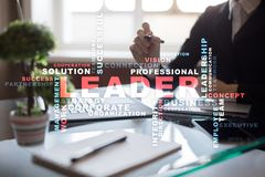 Leader. Leadership. Teambuilding. Business concept. Words cloud. Leader Leadership Teambuilding. Business concept. Words cloud royalty free stock photography