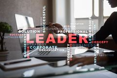 Leader. Leadership. Teambuilding. Business concept. Words cloud. Leader Leadership Teambuilding. Business concept. Words cloud stock photography
