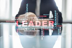 Leader. Leadership. Teambuilding. Business concept. Words cloud. Leader Leadership Teambuilding. Business concept. Words cloud stock photos