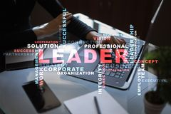 Leader. Leadership. Teambuilding. Business concept. Words cloud. Leader Leadership Teambuilding. Business concept. Words cloud royalty free stock photography